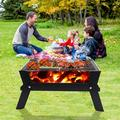 TianRan Portable Grill BBQ, Foldable Charcoal Barbecue Grill For Outdoor Cooking Camping Hiking Picnic Travel Park, Size 8.7 H x 18.1 W x 9.8 D in