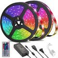 UMICKOO Led Strip Lights 32.8 feet 10m w/ 44 Keys IR Remote & 12V 5A Power Supply Flexible Color Changing 5050 RGB 300 LEDs Light Strips Kit for H