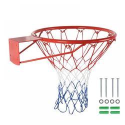 """Taykoo 18"""" Basketball Rim, Basketball Net, Indoor Outdoor Hanging Basketball Goal w/ All Weather Net Wall Mounted Basketball HoopSteel in Gray"""