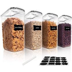 Prep & Savour Vtopmart Cereal Storage Container Set, BPA Free Plastic Airtight Food Storage Containers 135.2 Fl Oz For Cereal, Snacks & Sugar
