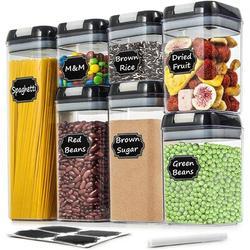Prep & Savour Airtight Food Storage Containers - Wildone Cereal & Dry Food Storage Containers Set Of 7 w/ Easy Locking Lids   Wayfair