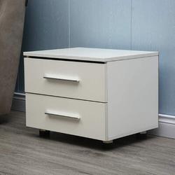Wade Logan® Mitsuwa 2 - Drawer Nightstand Wood in White, Size 19.6 H x 14.5 W x 21.6 D in | Wayfair DAE55646601B499F8721FF314984D4D6