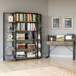 "Trent Austin Design® Catalan 66.1"" H x 48.6"" W Steel Etagere Bookcase in Brown, Size 66.1 H x 48.6 W x 13.2 D in   Wayfair"
