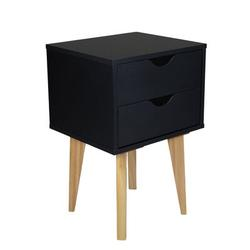 George Oliver Mid Century Modern Nightstand – MDP Bedside Table Night Stand – Premium Quality Wood – Available In, White in Black   Wayfair
