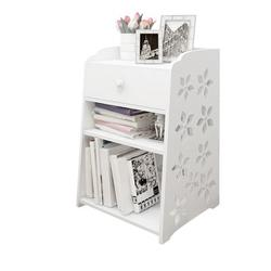 Isabelle & Max™ Bedside Tables Cabinet 1 Drawer Night Stand Storage Furniture Shelf Cupboard in White, Size 11.8 H x 20.5 W x 12.2 D in | Wayfair
