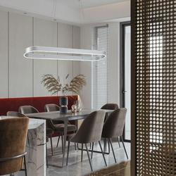 Orren Ellis Kainani 1 - Light Unique Bulb LED Pendant Metal in Gray, Size 56.47 H x 8.07 W x 39.37 D in | Wayfair 2230F28D750147E59BFA43BA081FB57B