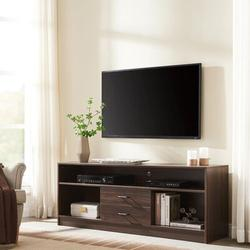 Latitude Run® Tv Cabinet 63 Inch Tv Stand For 70 Inch Tv, Modern Tv Entertainment Center Tv Console Table Television Stands in Brown | Wayfair