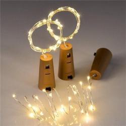 Arlmont & Co. 20 Leds Warm White Wine Bottle Lights Solar Powered String Light w/ Cork Stopper 1Pcs | Wayfair 4072BC6F160D418B816CF0981560E472