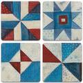 Union Rustic Modern Americana Tabletop Art Drink Coaster Set Of Four Ceramic, Size 1.0 H x 4.25 D in | Wayfair 310F9CE510D645F6A74F21E4A4179521