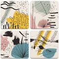 Dovecove Modern Silhouettes Tabletop Art Drink Coaster Set Of Four Ceramic, Size 1.0 H x 4.25 D in | Wayfair D435C968787D4527B7395F8C8071E036