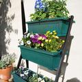 Arlmont & Co. 4 Tier Vertical Raised Garden Bed Garden Elevated Planters 4 Container Boxes in Black/Green | Wayfair