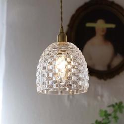 Rosdorf Park Antique Vintage European Style Square Glass Pendant Light Glass, Size 8.0 H x 8.0 W x 8.0 D in | Wayfair