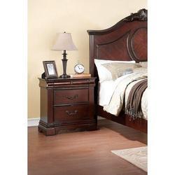 Canora Grey Nightstand In Dark Cherry Nightstand Storage Wood Cabinet, European Style, White, Simple Furniture, Size 28.0 H x 26.0 W x 16.0 D in