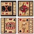 Alcott Hill® Game Cards Tabletop Art Drink Coaster Set Of Four Ceramic, Size 1.0 H x 4.25 D in | Wayfair 3FC50A2ECD1A4FBABE96004B95FB959B