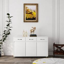 Latitude Run® Storage Drawer File Cabinet Nightstand Side Cabinet Entryway Console Side Tableswith Three Drawers in White | Wayfair