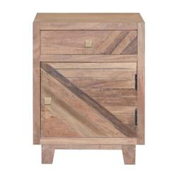 Union Rustic Pompey 1 - Drawer Nightstand in Wood in Brown, Size 24.0 H x 17.0 W x 13.0 D in | Wayfair A4B2D16331484BD486F4F42E648EBF23
