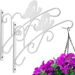 "Winston Porter 2 Pack Hanging Plants Brackets 11"" Wall Planter Hooks Hangers Flower Pot Bird Feeder Wind Chimes Lanterns Patio Lawn Garden For Shelf Outdoor Indoor Metal"