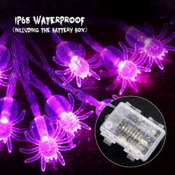 The Holiday Aisle® 3.5M Spider String Lights 30 Leds Spider Lights w/ 2 Remote Control IP65 Waterproof Light String For Halloween Haunted House (Purple Light)