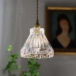 Red Barrel Studio® Antique Vintage European Style Cone Glass Pendant Light Glass, Size 8.0 H x 8.0 W x 8.0 D in | Wayfair