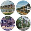 Alcott Hill® Charleston Tabletop Art Drink Coaster Set Of Four Ceramic, Size 1.0 H x 4.25 D in | Wayfair 7A8FF6C634D54EEA905F31F88CF2390E