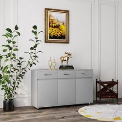 Latitude Run® Storage Drawer File Cabinet Nightstand Side Cabinet Entryway Console Side Tableswith Three Drawers in Gray | Wayfair