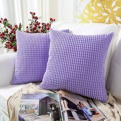 Latitude Run® Throw Pillow Cover Set Of 4Polyester/Polyester blend in Indigo, Size 18.0 H x 18.0 W x 0.2 D in | Wayfair