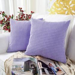 Latitude Run® Throw Pillow Cover Set Of 4Polyester/Polyester blend in Indigo, Size 18.0 H x 18.0 W x 0.2 D in   Wayfair