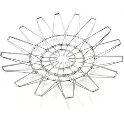 Ivy Bronx Fruit Basket, Deformable Wire Fruit Basket, Stainless Steel Fruit Basket For Kitchen Counter in Black, Size 1.0 H x 12.0 W x 12.0 D in