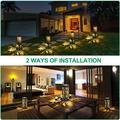ZWISSLIV Solar Lights Outdoor Upgraded Bright Solar Pathway Lights Bigger Size Decorative Solar Garden Lights Waterproof Solar Powered Led Landscape Lighting F