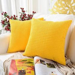 Latitude Run® Throw Pillow Cover Set Of 4Polyester/Polyester blend in Green, Size 18.0 H x 18.0 W x 0.2 D in | Wayfair