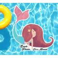 Slick Woody's Cornhole Co Beach Please Im A Mermaid Underwater Pool Mat Tattoo, Size 30.0 H x 30.0 W in   Wayfair 2.5PT073