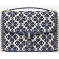 Locket Large Jacquard Flap Shoulder Bag - Blue - Kate Spade Shoulder Bags