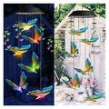 Furren Wind Chimes,LED Wind Chime Solar Powered Butterfly Lights Color Changing Led Christmas Outdoor Garden Holiday Decoration (Color : 6 10w, Size : Butterfly)