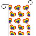 FunHOMEs Pride Day Love Heart Garden Flag Vertical Double Sized 28x40 Inch Holiday Decorative House Flags Yard Flag Garden Banner Front Porch Decor Outdoor Indoor Decorations for Farmhouse