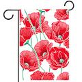 FunHOMEs Red Poppies Garden Flag Vertical Double Sized 28x40 Inch Holiday Decorative House Flags Yard Flag Garden Banner Front Porch Decor Outdoor Indoor Decorations for Farmhouse