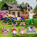 Mefeny 4th of July Yard Sign,Independence Day Lawn Outdoor Decor,Independence Day Party Yard Signs(7-Piece Set)