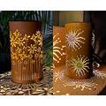 pearlstar Outdoor Solar Table Lamp 2pack Metal Flower Shape Solar Lantern Lights + Sunflower Shape Solar Lantern Lamp