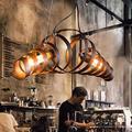 KMMK Novelly Decorated Chandelier, Retro Pendant Lamp Vintage Chandelier Spiral Lamp Hanging Lamp End Lamp Lamp Light Iron Lamp Industrial Lamp Hanging Lamp