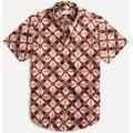 Short-sleeve Stretch Slub Cotton Shirt In Print - Red - J.Crew Shirts