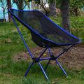 FFYY Camping Chair,Portable Camping Chair Lightweight Outdoor Compact Low Back Aluminum Folding Camping Chair Foldable Picnic Chair Fold Up Fishing Beach Chair (Color : Royal Blue)