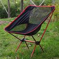FFYY Camping Chair,Portable Camping Chair Lightweight Outdoor Compact Low Back Aluminum Folding Camping Chair Foldable Picnic Chair Fold Up Fishing Beach Chair (Color : Red)