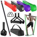 Teapai Resistance Bands Bar Set - 4 Resistance Levels Up to 310 Lbs - Resistance Bands for Men with Bar, Door Anchor, Handles Full Body Workout Equipment - Portable Home Gym