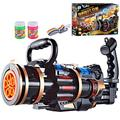 Gatling Bubble Machine Gun - 2021 Cool Toys & Gift, 8-Hole Huge Gatling Bubble Guns, Automatic Bubble Maker, Electric Bubble Gun Toy for Summer Outdoor Activities (Black-Large)