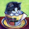 DIY 5D Diamond Painting Full Square Full Diamond Art, Coffee Cup cat 30x30cm Embroidery Needlework Craft Decoration Cross Stitch kit Gift