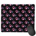 Cat Paw Print Love, My Cat is Awesome, Cool Cats and Kittens, Pet Cat Face Big Mouse Pad with Stitched Edge 9.84 X 11.8 Inches Superfine Textured Mouse Mat Nonslip Rubber Base Mouse Pad