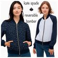 Kate Spade Jackets & Coats | Kate Spade Wild Roses Reversible Bomber Jacket | Color: Blue | Size: S