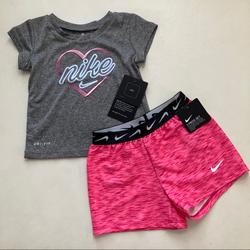 Nike Matching Sets | Nike Baby Girl Cute Pink Shorts Set 2204 | Color: Pink | Size: 18mb