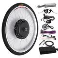 """HSY SHOP 48V1000W Ebike Kit, Electric Bicycle Conversion Kit,Front/Rear Hub Motor Wheel Brushless gearless hub Motor (Color : 28"""", Size : Rear Wheel)"""