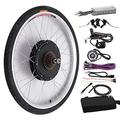 """HSY SHOP 48V1000W Ebike Kit, Electric Bicycle Conversion Kit,Front/Rear Hub Motor Wheel Brushless gearless hub Motor (Color : 24"""", Size : Front Wheel)"""