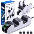 TYESHA PS5 Controller Charging Station Dual Controller Charging Base, Compatible with Playstation 5 Controller Charging Base Charger bracket